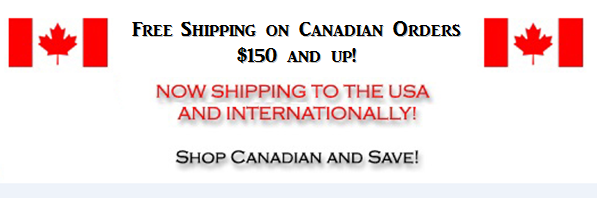 Free Shipping on Canadian Orders $99 and up!